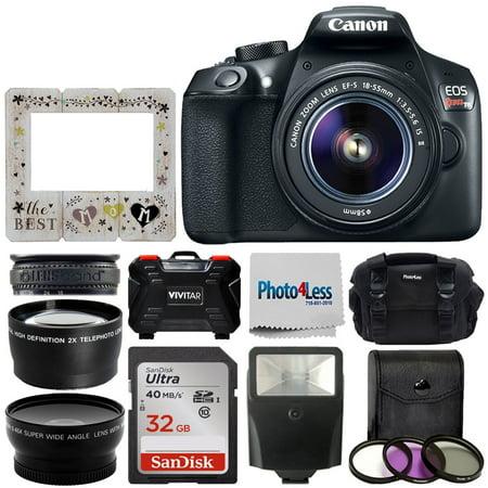 Canon Rebel T6 DSLR Camera + 18-55mm 3 Lens Kit +32GB Best Mom (Best Old Canon Lenses)