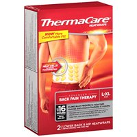 Thermacare Heat Wrap, Back Hip 8-Hr, Large/X-Large, 2 ct