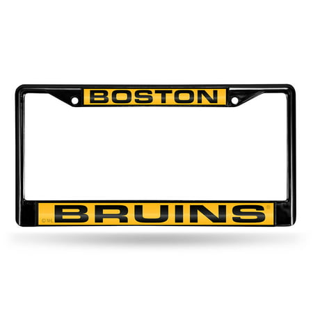 Boston Bruins NHL Laser Cut Black License Plate Frame (Boston Bruin)