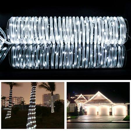Solar Powered LED Light Waterproof 33FT/10M 100-LEDs Tube Light Lamp Fairy String Rope (Water Fairy)