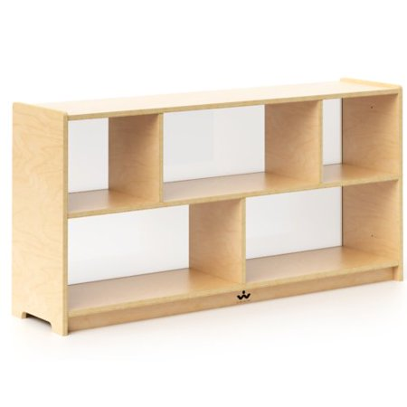 24' Wood Cabinet - Whitney Brothers Preschool Storage Portable 3 Compartment Classroom Cabinet