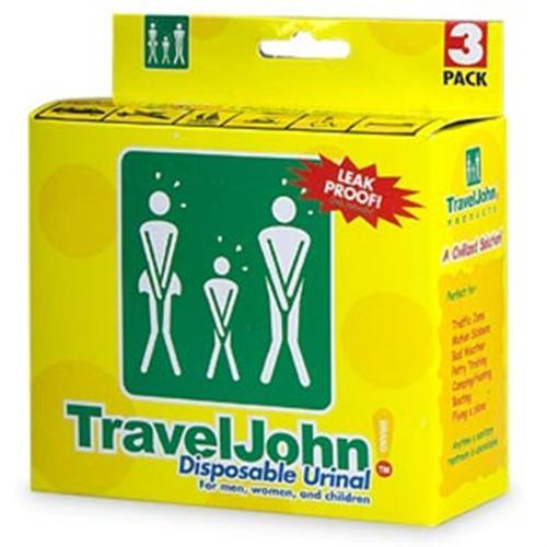 TravelJohn Disposable Urinal for Men, Women & Children 3 ea (Pack of 6)