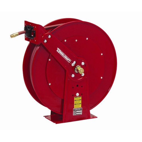 Reelcraft 0.5''x 75', 300 psi, Heavy Industrial Air / Water Reel with Hose