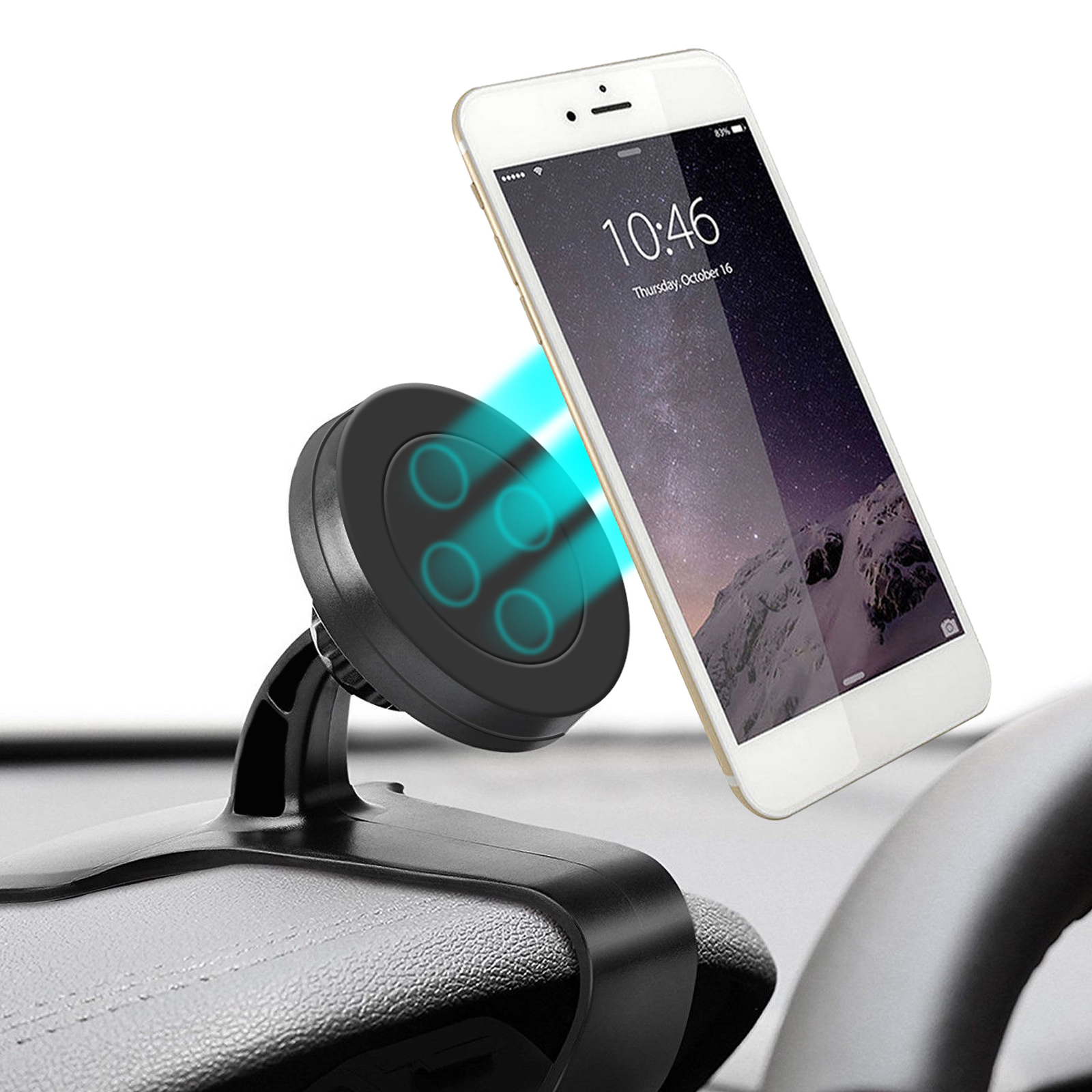 TSV Universal Magnetic Car Dashboard Mount Holder Clip Stand for Cell Phone GPS