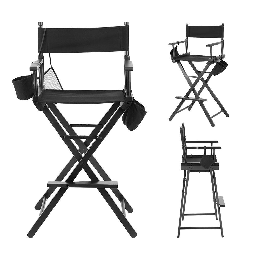 Makeup Artist Tall Directors Chair Wood Stool Professional Light Weight Bar  Height Seat Causal Home Unique