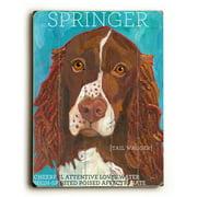 Artehouse LLC Springer by Ursula Dodge Graphic Art Plaque