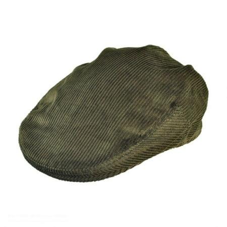 Washed Corduroy Cap (Corduroy Ivy Cap - XXL - Dark Olive)