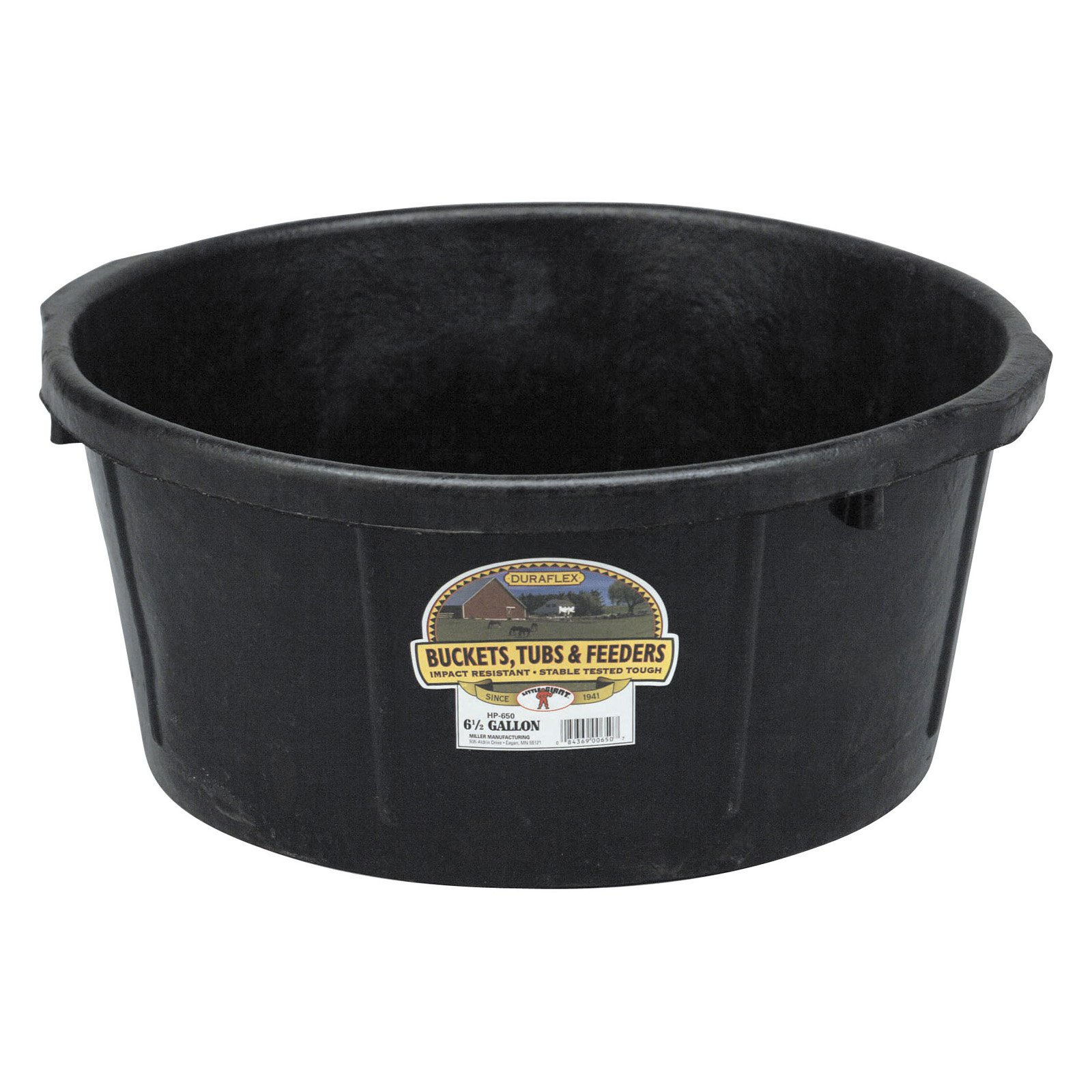 Little Giant Farm & Ag 6.5-Gallon Rubber Feeder Tub