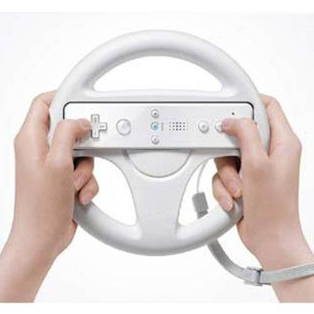 Zettaguard Mario Kart Racing Wheel for Nintendo Wii, 2 Sets White Color