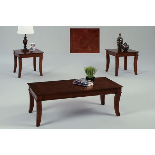 Corona 3 Piece Coffee & End Tables Value Bundle, Cherry