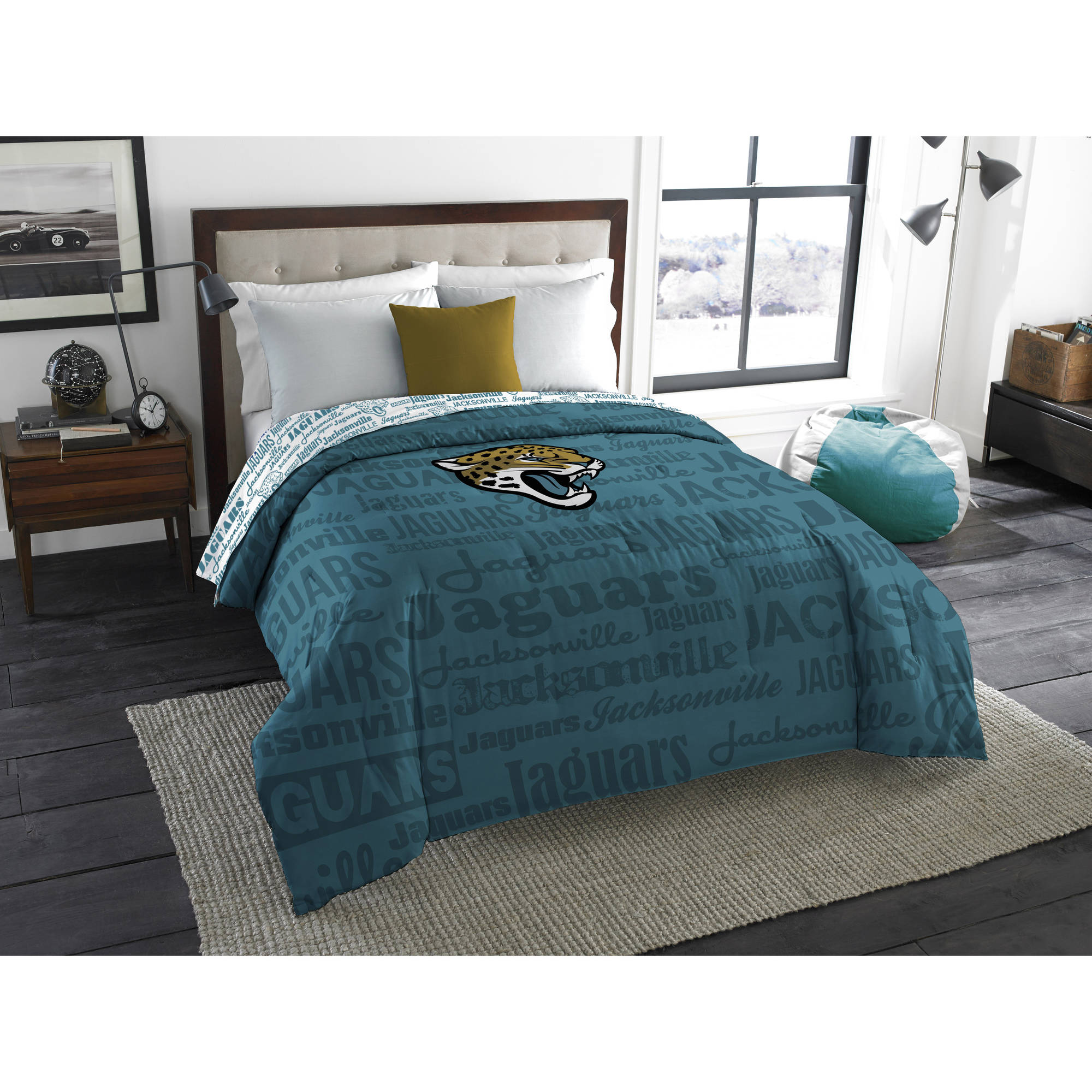 "NFL Jacksonville Jaguars ""Anthem"" Twin/Full Bedding Comforter"
