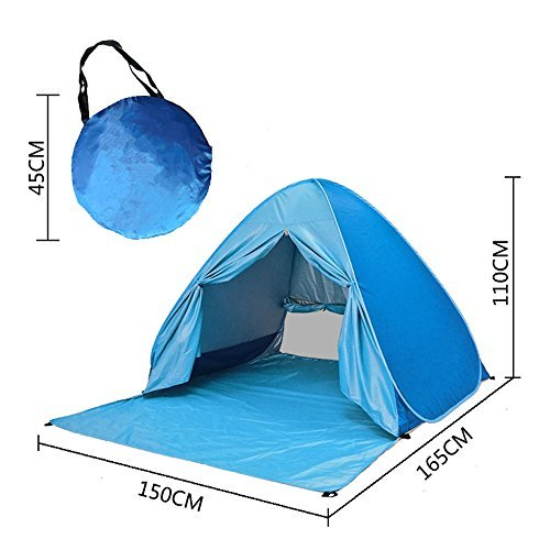 Automatic Pop up Instant Portable Cabana Beach Tent Beach Tent Beach Shelter, Sets up in Seconds (Blue)