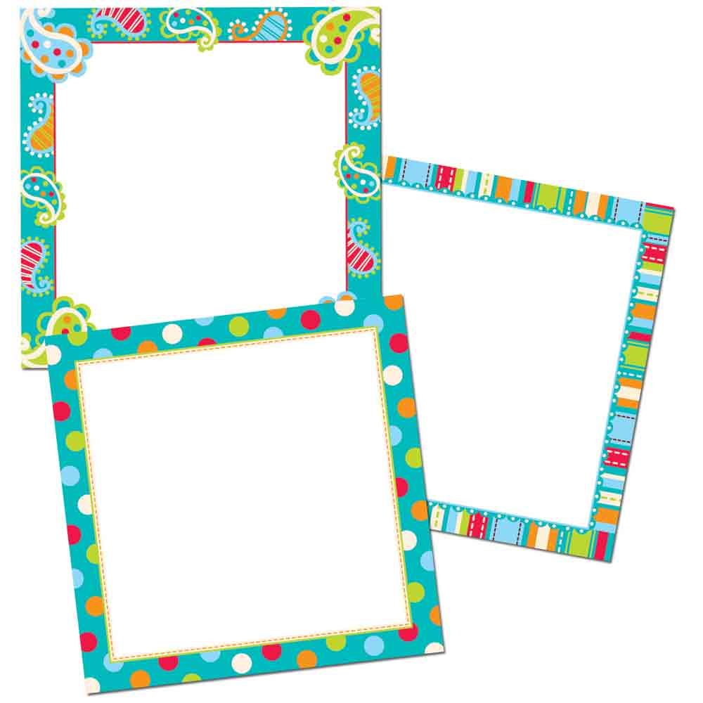 Dots on Turquoise Cards 10 Jumbo Designer Cut-Outs