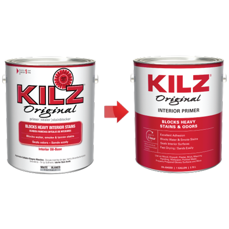 Original Pruner (KILZ Original Oil-Based Primer, Sealer & Stainblocker, White - New Look, Same Trusted)