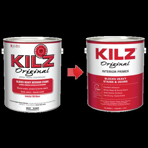 Kilz Original Oil Based Primer Sealer Stainblocker White New