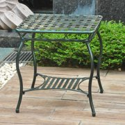 International Caravan Santa Fe Iron Nailhead Outdoor End Table