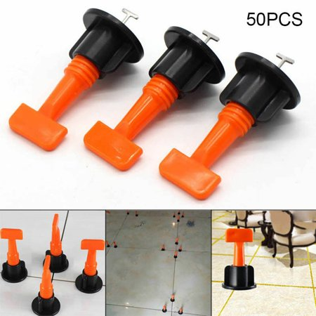 - 50x Flat Ceramic Floor Wall Construction Tools Reusable Tile Leveling System Kit