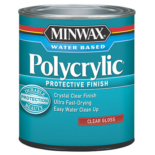 Minwax Polycrylic Protection Finish, Half Pint, Gloss