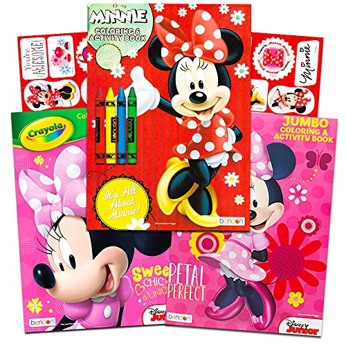 Disney Minnie Mouse Coloring Book Set -- 3 Jumbo Coloring Books With  Stickers (Party Supplies Pack) Walmart Canada