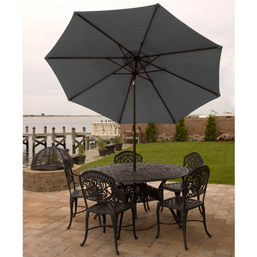 Bliss Hammocks 9' Aluminum Market Umbrella with Crank and Tilt Features