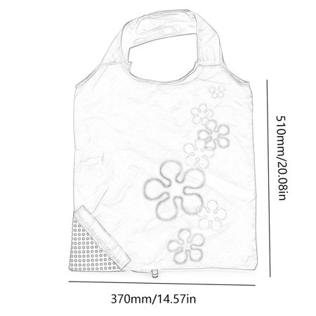 Cute Strawberry Design Foldable Polyester Shopping Bag Environment Handle Bag - image 3 of 7