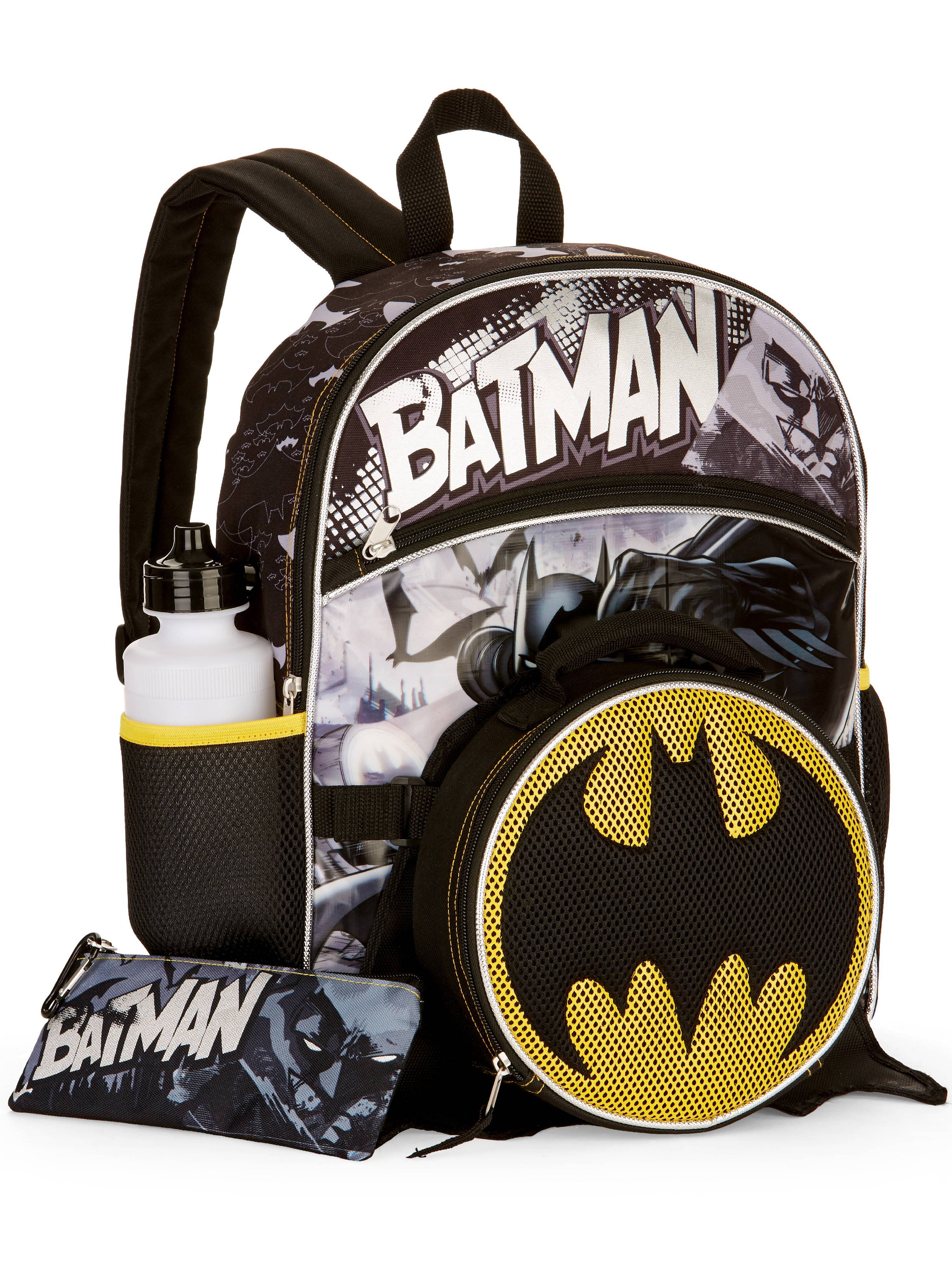 Batman 5-Piece Backpack Set With Lunch Bag by Generic