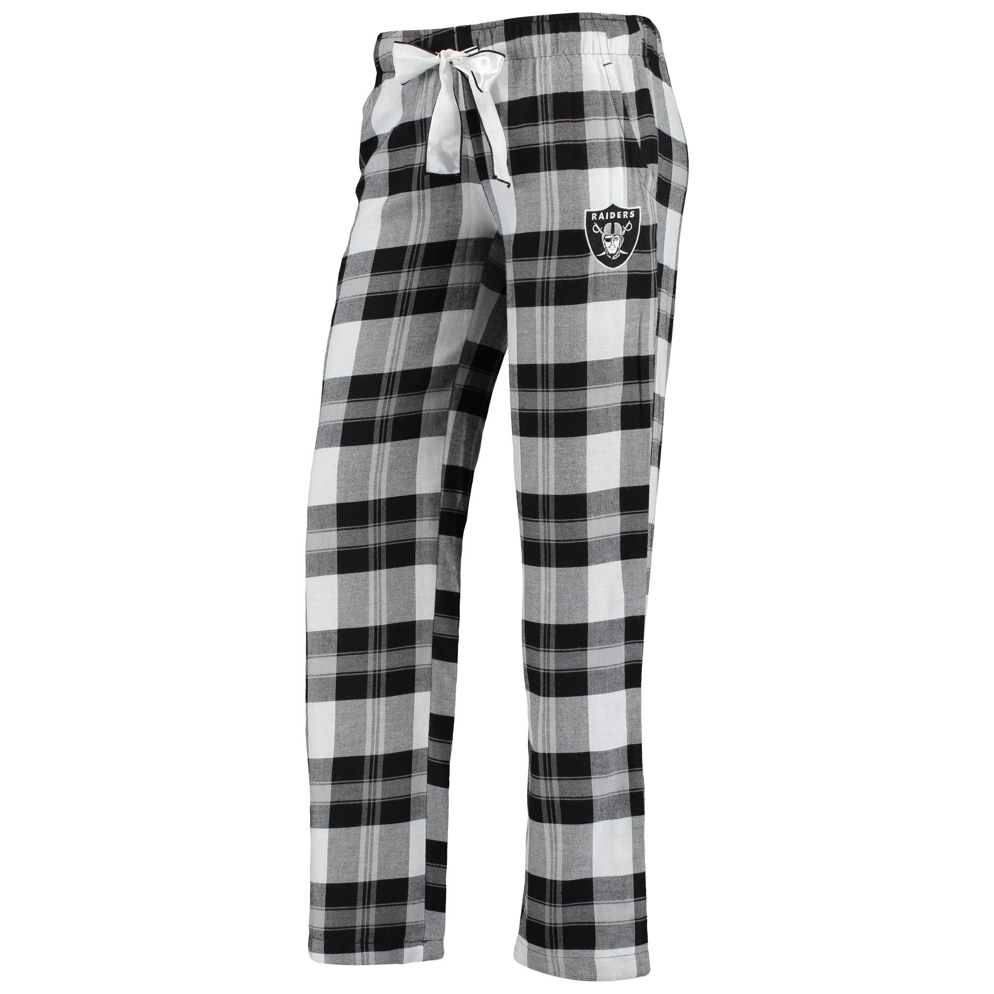 Oakland Raiders Concepts Sport Women's Plus Size Headway Plaid Pants - Black