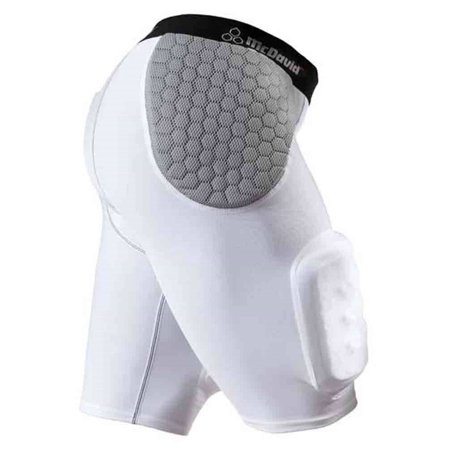 (McDavid Classic Logo 7552 CL Hardshell Thigh Guard Girdle - White/Gray - Medium)