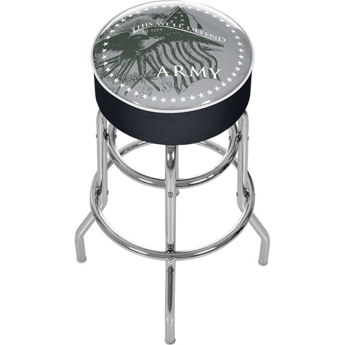 U.S. Army This We'll Defend Padded Bar Stool
