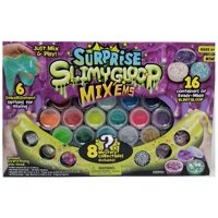 Surprise SlimyGloop Mix 'Ems 16 Containers, 6 Embellishment Plus 8 Mystery
