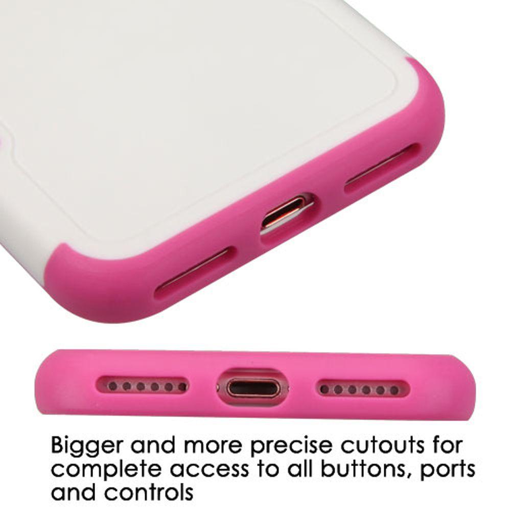 Insten Tuff Merge Hard TPU Case for Apple iPhone 7 - White/Hot Pink - image 2 de 3