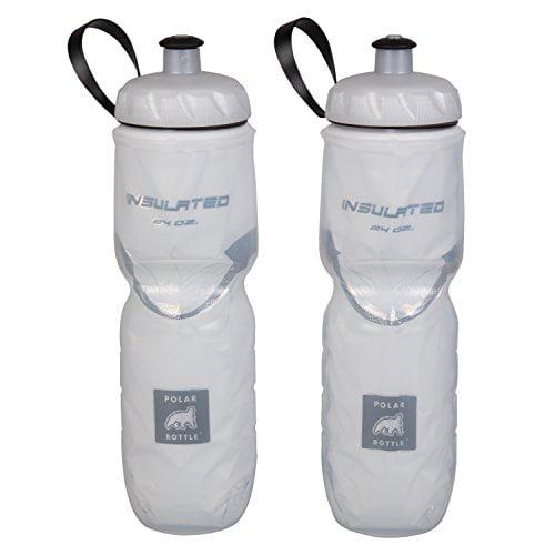 Polar Bottle Insulated Water Bottle - 24 oz, White / White, 2-Pack