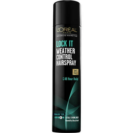 L'Oreal Paris Advanced Hairstyle LOCK IT Weather Control Hairspray 8.25 OZ - Brown Halloween Hair Spray