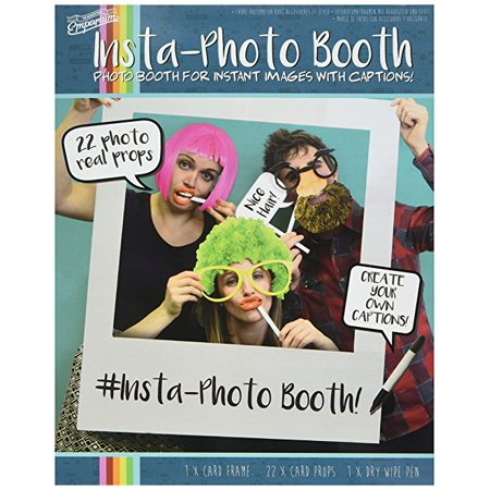 Paladone Insta Photobooth Props Frame Includes 22 Props And A
