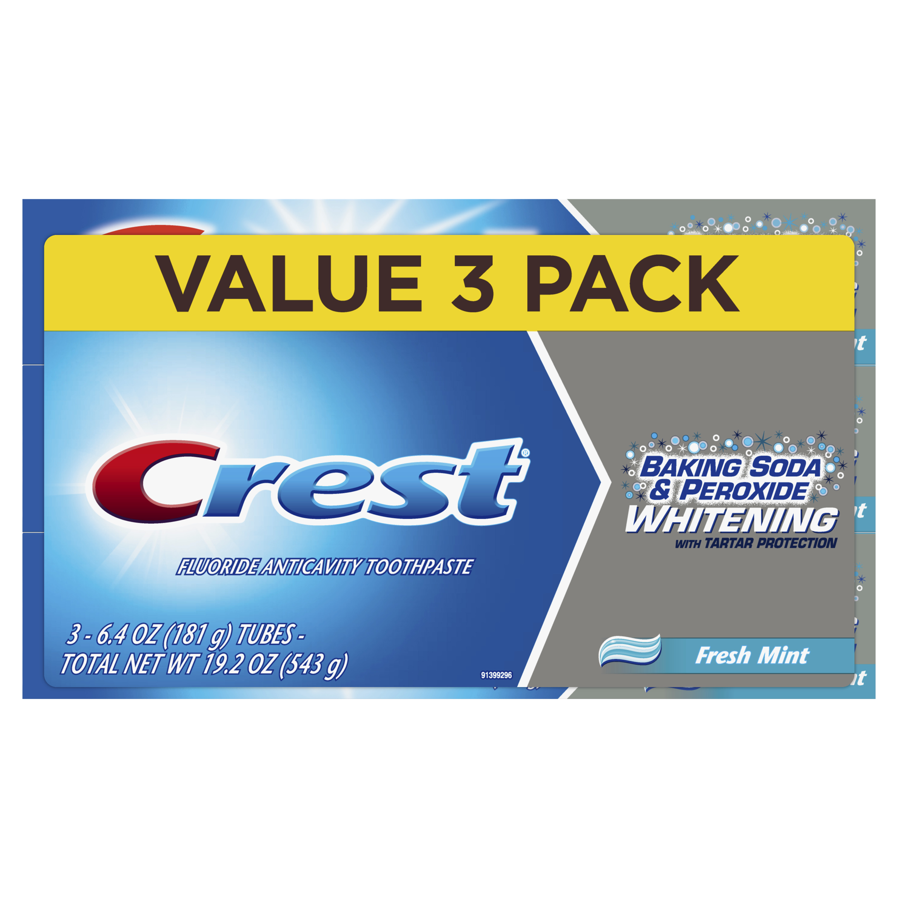 3-Pack Crest Baking Soda & Peroxide Whitening Toothpaste