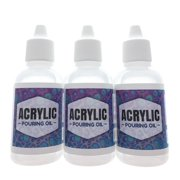 Acrylic Pouring Oil 3 Pack- 100% Silicone Lubricant for Cell Creation in Acrylic Paint, 1oz Drip Tip by Essential Values (3 Pack)