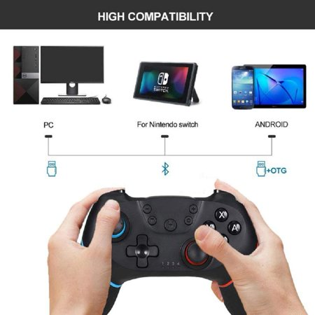 Wireless Controller for Nintendo Switch Pro,Remote Controller Gamepad Joypad for Nintendo Switch Console w/ Gyro Axis, Turbo Dual Vibration - image 2 of 9