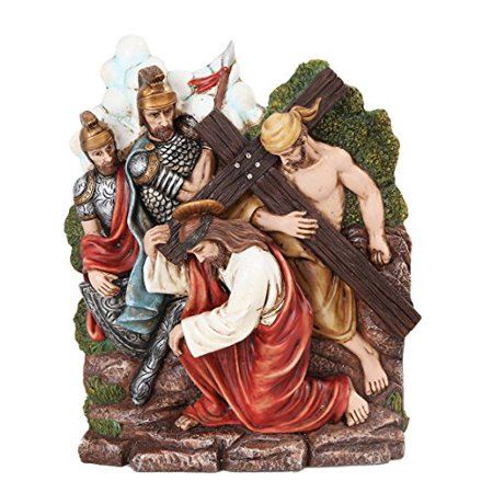 9.25 Inch Stations of The Cross Christ Carrying Cross Statue Figurine