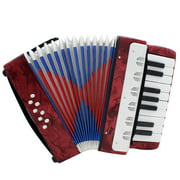Aibecy Mini Small 17-Key 8 Bass Accordion Educational Musical Instrument Toy for Kids Children Amateur Beginner Christmas Gift