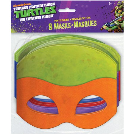 Teenage Mutant Ninja Turtles Party Masks, 8ct - Teenage Mutant Ninja Turtle Party Ideas