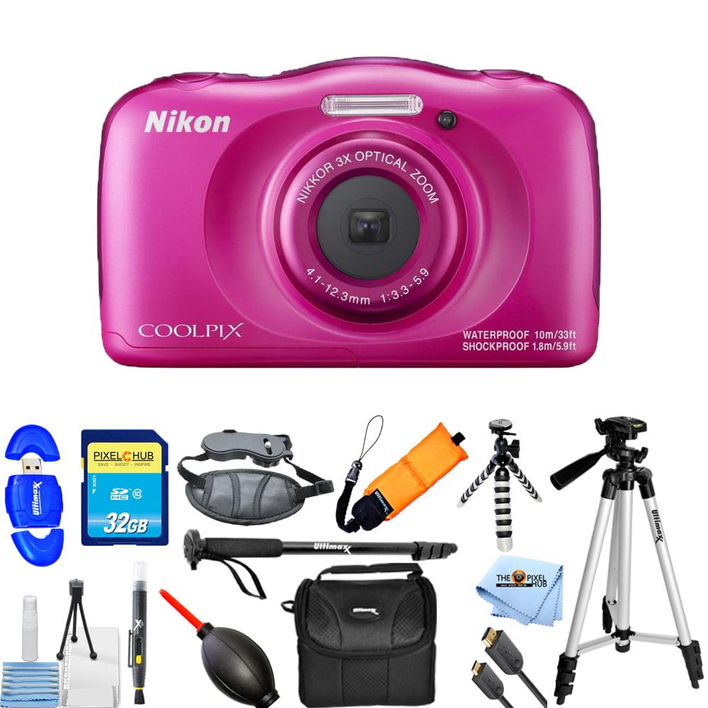 UNASSIGNED Nikon COOLPIX W100 Digital Camera (Pink) PRO B...