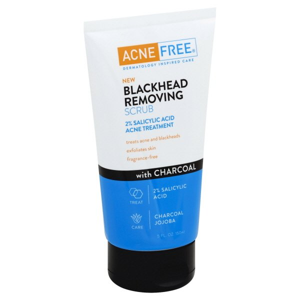 Acne Free Blackhead Removing Exfoliating Face Scrub With 2% Salicylic Acid & Charcoal Jojoba - daily wash, Skin Care Fac
