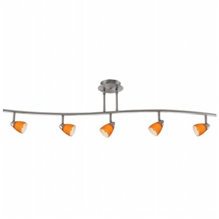 Cal Lighting SL-954-5-BKBRNS Track Lighting, Burnt Glass & Black - image 1 de 1