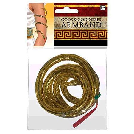 Amscan Gracious Gods & Goddess Snake Gold Armband Costume Accessory](Tiki God Costume)