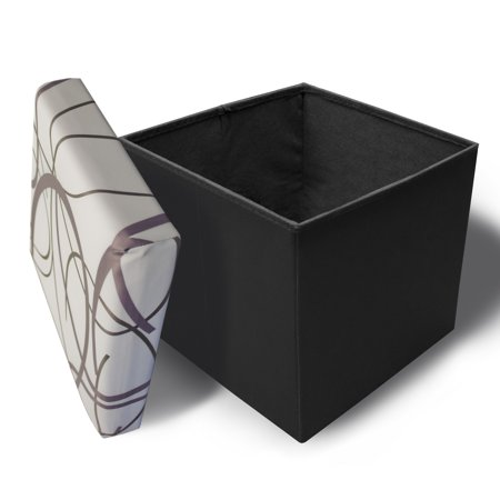 Swirly Base (Crown Comfort 's Purple and Black Swirl on White Background with Black Base Memory Foam)