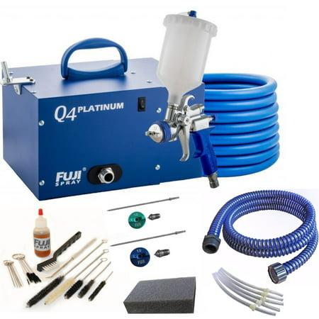 Fuji Spray Q4 Platinum T75G Quiet HVLP Spray System and Pro Accessory (Fuji Hvlp Q4 Pro With Gravity Gun)