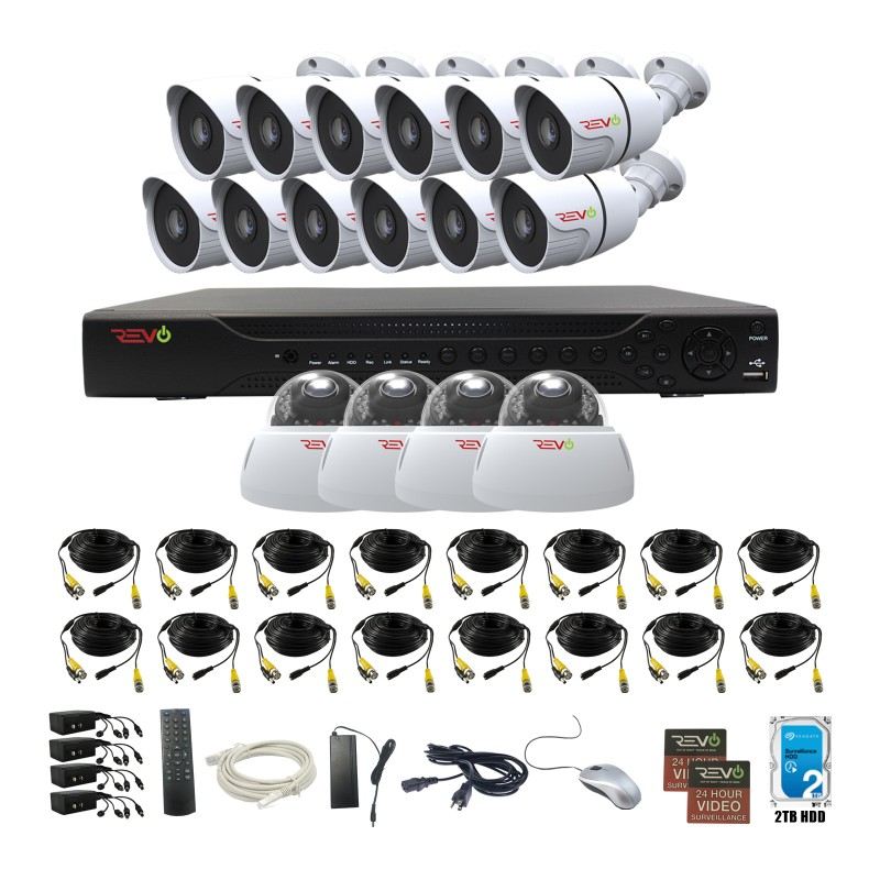 RevoAmerica Aero HD 1080p 16 Ch. Video Security System with 16 Indoor/Outdoor Cameras