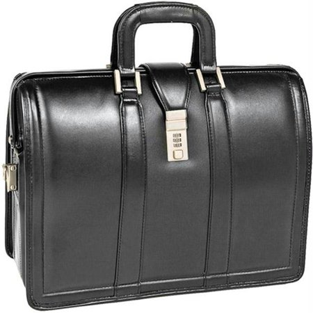 17 Inch Morgan Black Leather Litigator Notebook Briefcase -