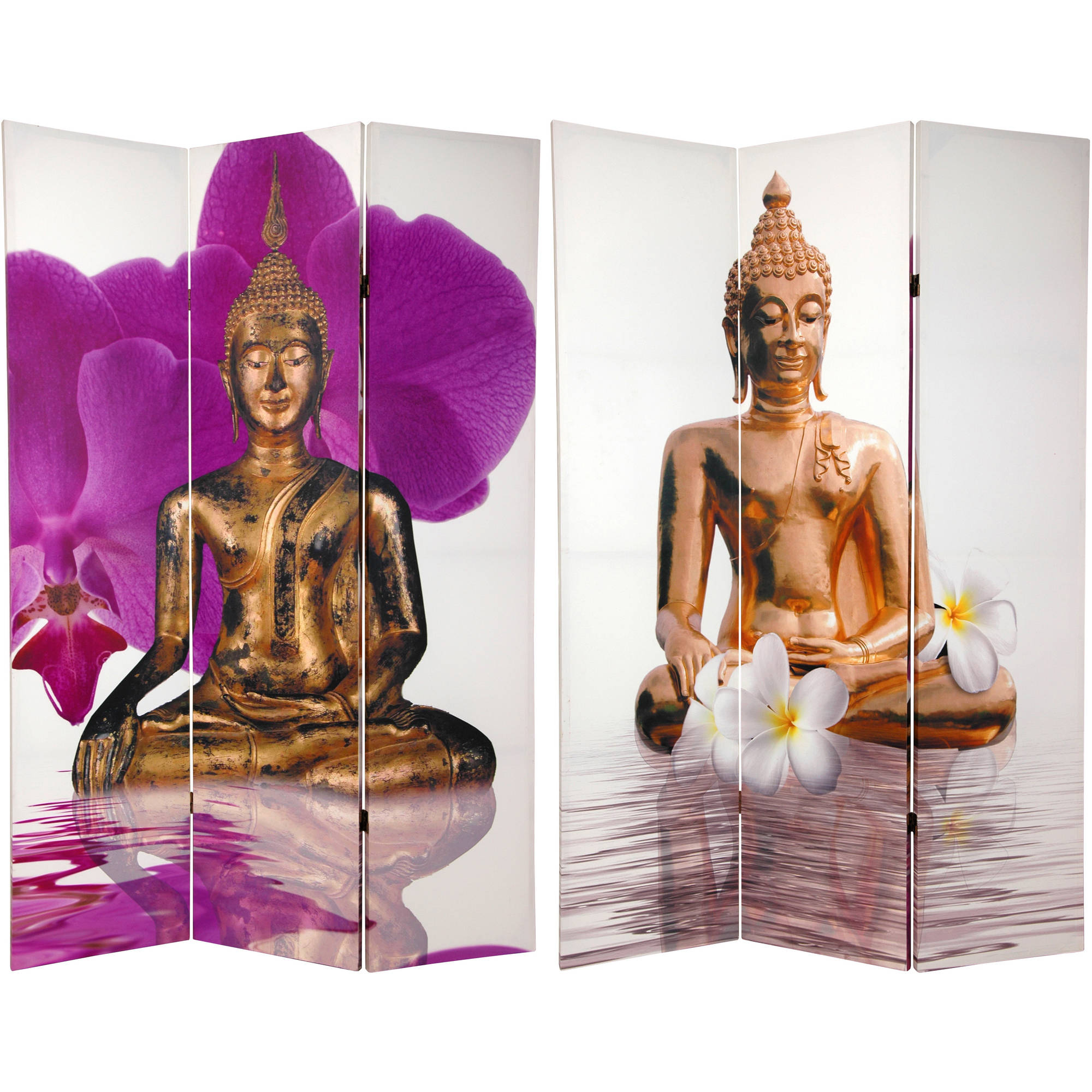 6 Tall Double Sided Thai Buddha Room Divider Walmartcom