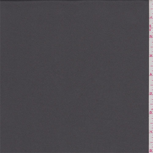 Granite Grey Polyester Activewear, Fabric By the Yard